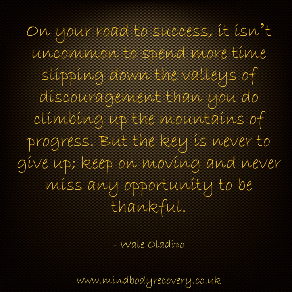 Discouragement and progress